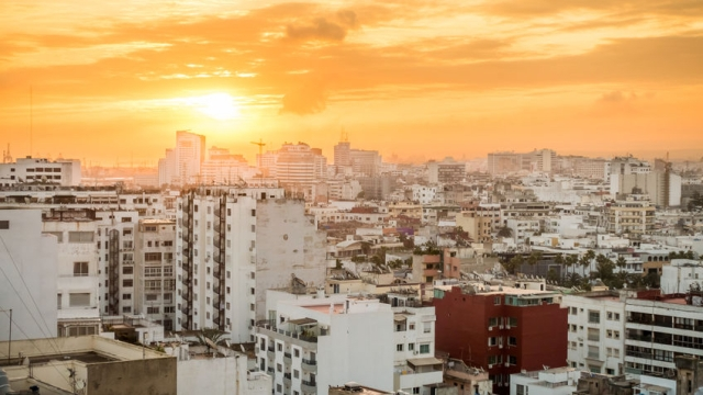 Sunrise over Casablanca, Morocco